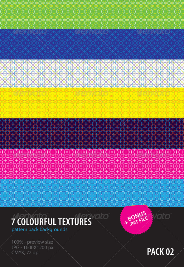 7 Colourful Textures - Patterns Backgrounds