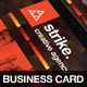 Strike Creative Agency Business Card Template - GraphicRiver Item for Sale