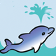 Cute Dolphins playing in the Sea - GraphicRiver Item for Sale