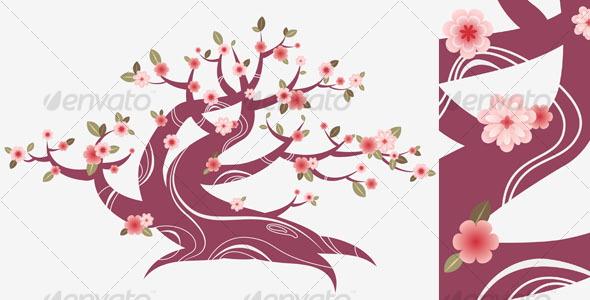 GraphicRiver Flowering bonsai 93097