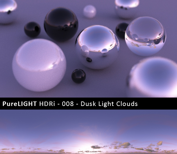 PureLIGHT HDRi 008 - Dusk Light Clouds - 3DOcean Item for Sale