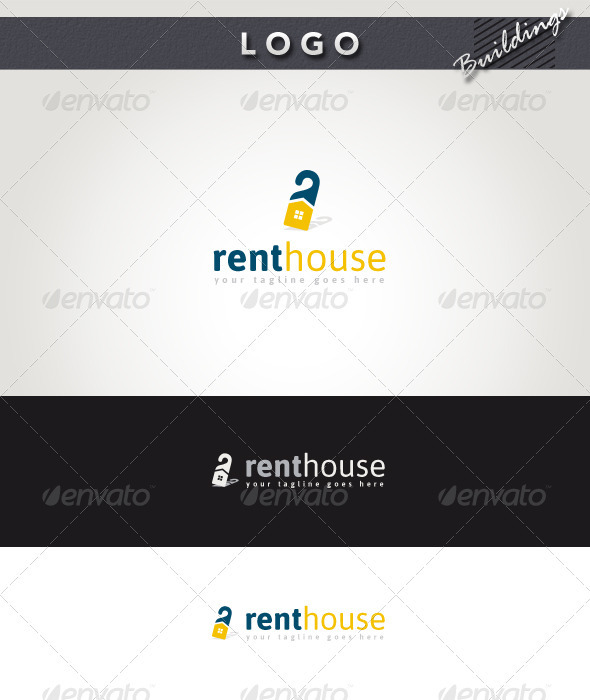 Rent House Logo - Buildings Logo Templates