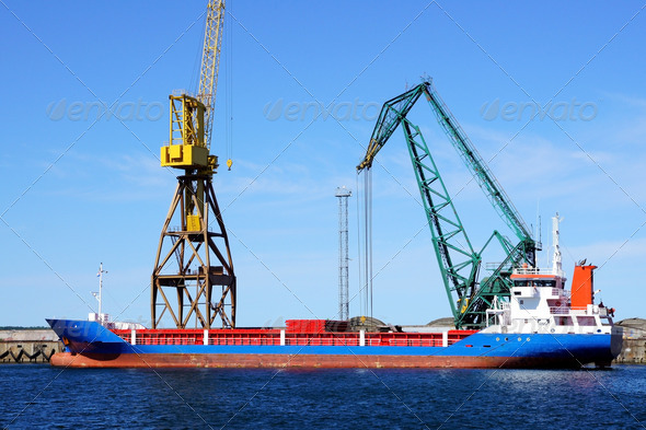 Cargoship - Stock Photo - Images
