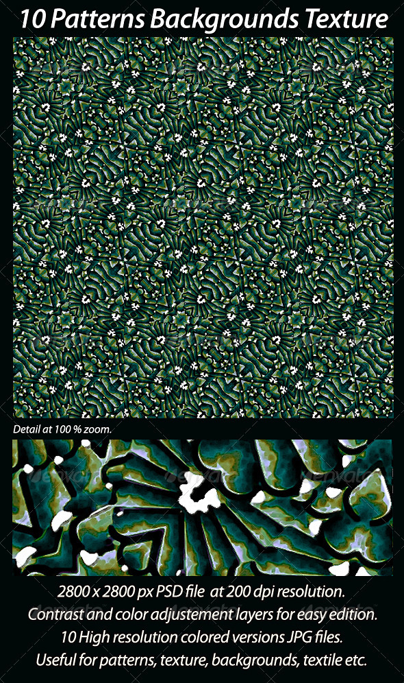 10 Patterns Backgrounds Texture - Patterns Backgrounds