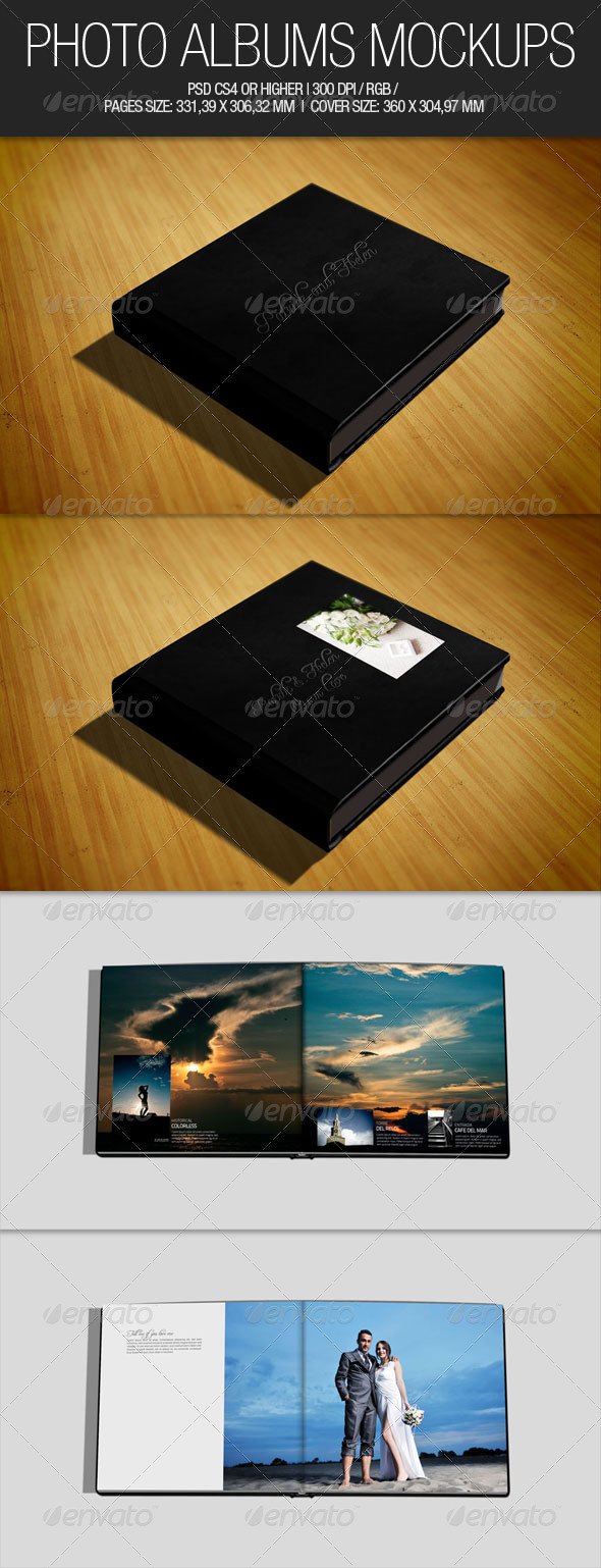Photo Albums Mockups - Miscellaneous Print