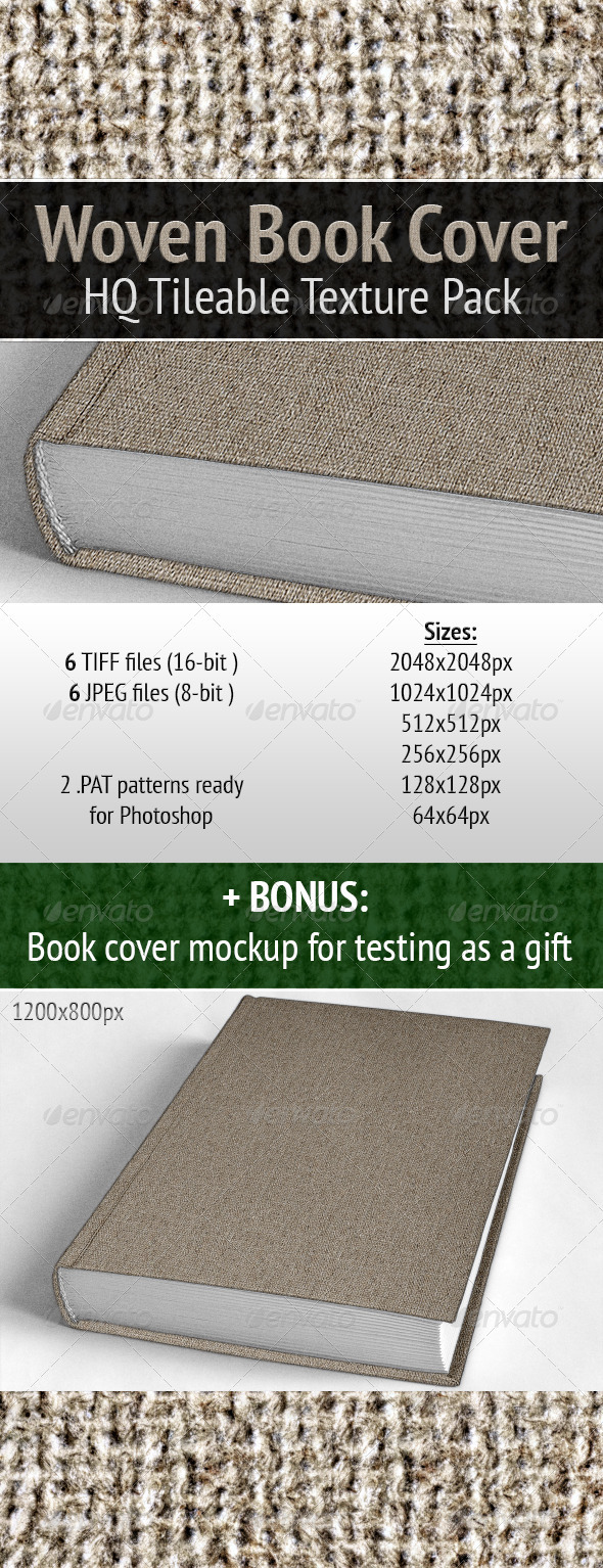 Woven Book Cover - Miscellaneous Textures