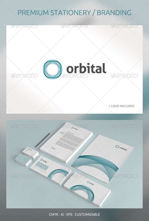 Orbital - Abstract Corporate Identity - Stationery Print Templates