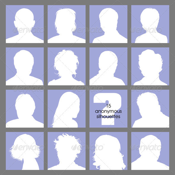 Social Networks Anonymous Avatars - People Characters