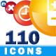 110 icons pack - transparent png + vector  - GraphicRiver Item for Sale