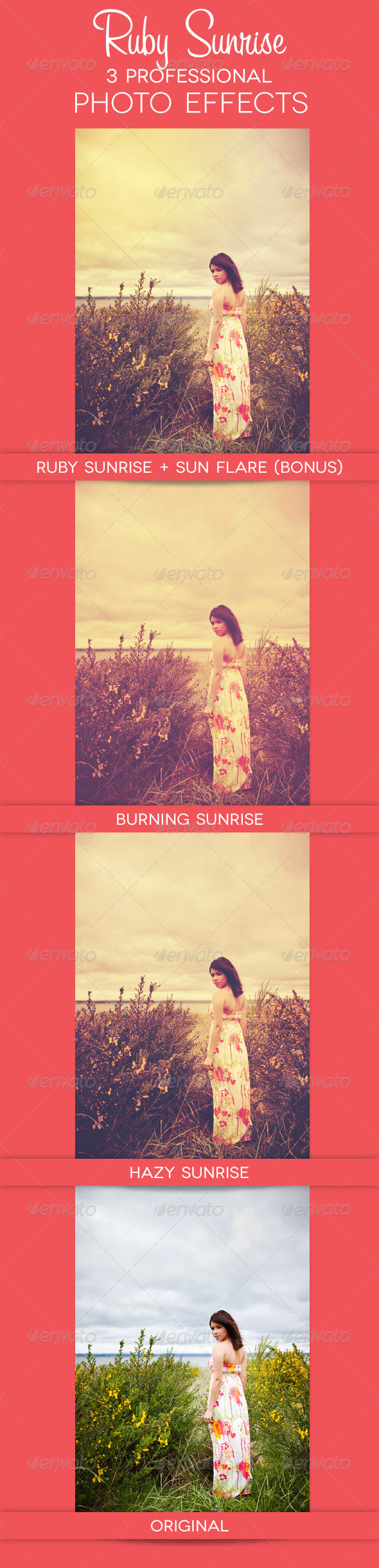 GraphicRiver Ruby Sunrise 3 Premium Photo Effects 2558338