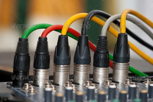 Stock Photo - PhotoDune microphone cables 2572844