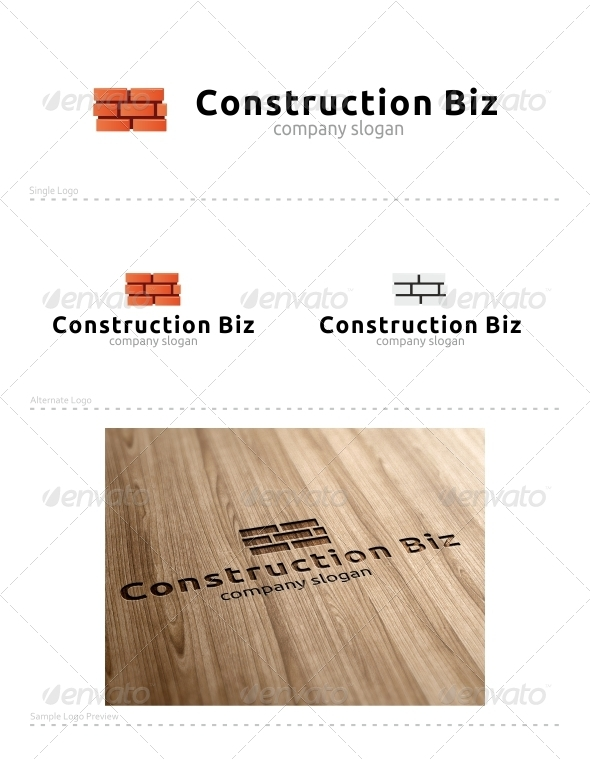 Construction Biz - Buildings Logo Templates