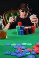 Serious poker player wearing sunglasses - PhotoDune Item for Sale