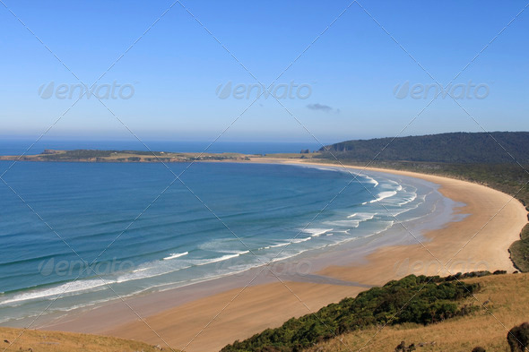 Beautiful beach in New Zealand - Stock Photo - Images