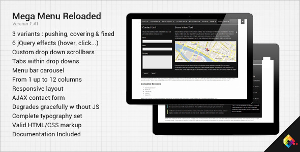 CodeCanyon Mega Menu Reloaded 1593152