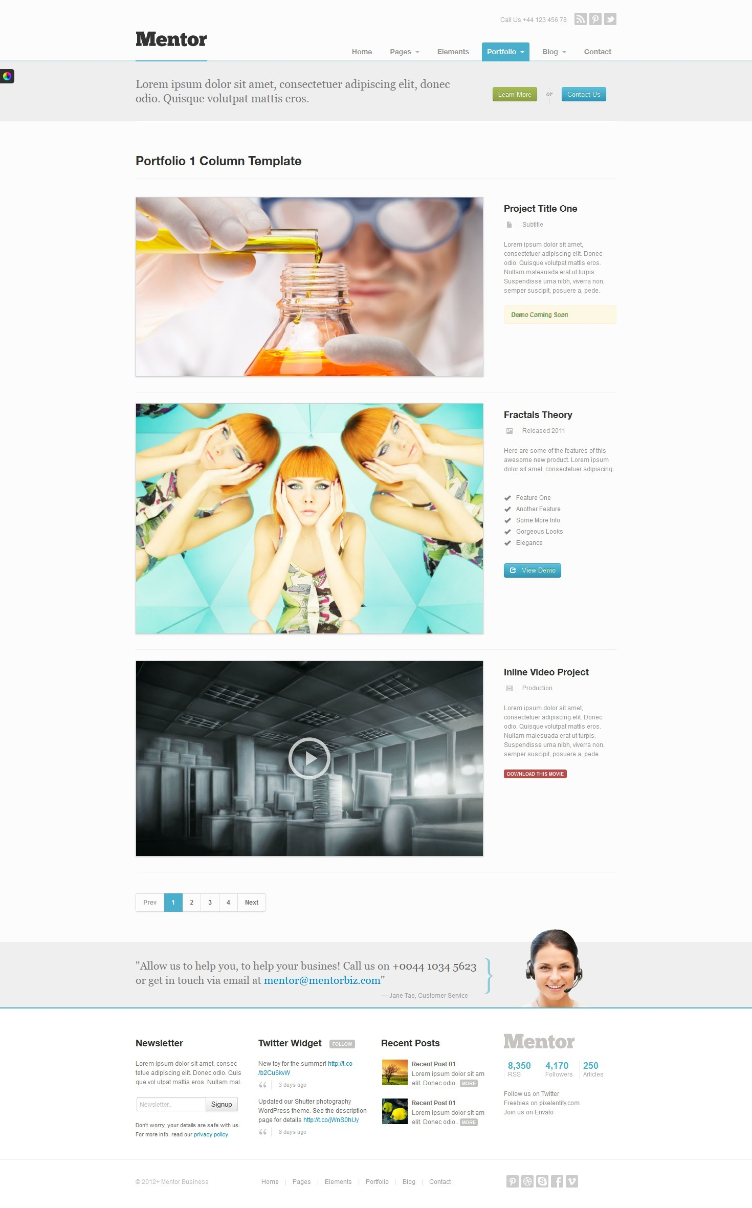 Mentor - Premium Responsive HTML5 WordPress Theme