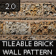 Tileable Brick Pattern and Texture 2.0 - GraphicRiver Item for Sale