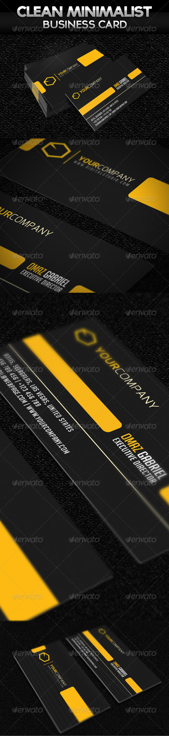 GraphicRiver Can Minimalist Business Card 2535556