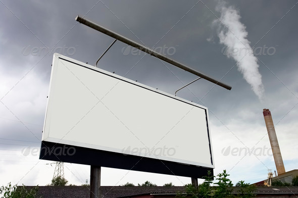 Billboard on the street - Stock Photo - Images