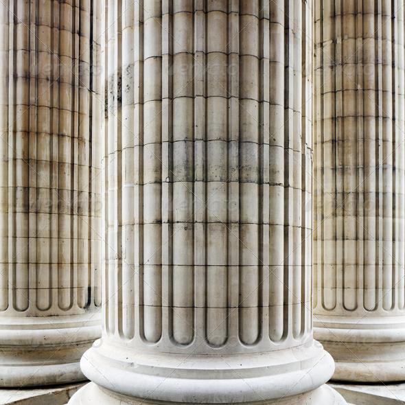 Columns in Paris - Stock Photo - Images