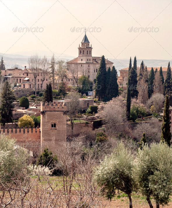 Nasrid monument of the Alhambra - Stock Photo - Images