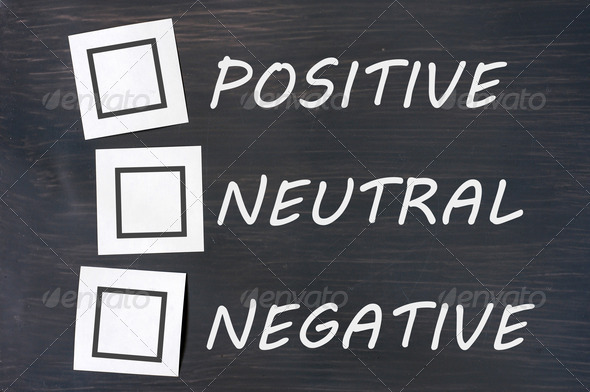 Feedback positive neutral negative on a chalkboard  - Stock Photo - Images