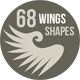 68 Photoshop Wing Shapes PS-Graphicriver中文最全的素材分享平台