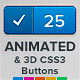 Animated &amp;amp; 3D CSS3 Button Pack - CodeCanyon Item for Sale