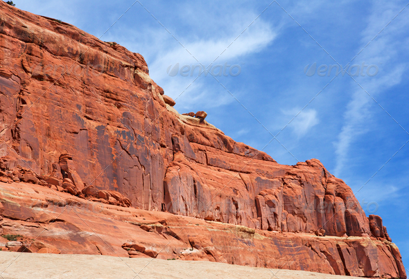 Red Diagonal Ridge - Stock Photo - Images