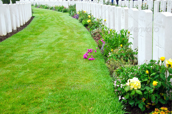 Ypres - tyne cot 3 - Stock Photo - Images