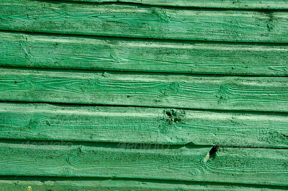 Background of old wooden board wall painted green - Stock Photo - Images