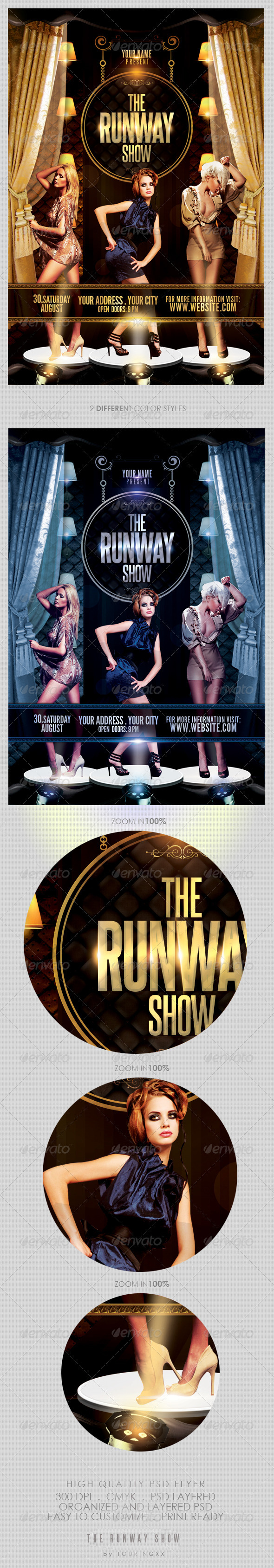 The Runway Show Flyer Template GraphicRiver - Print Templates -  Flyers  Events  Clubs & Parties 2563655