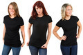 Young women with blank black shirts - PhotoDune Item for Sale