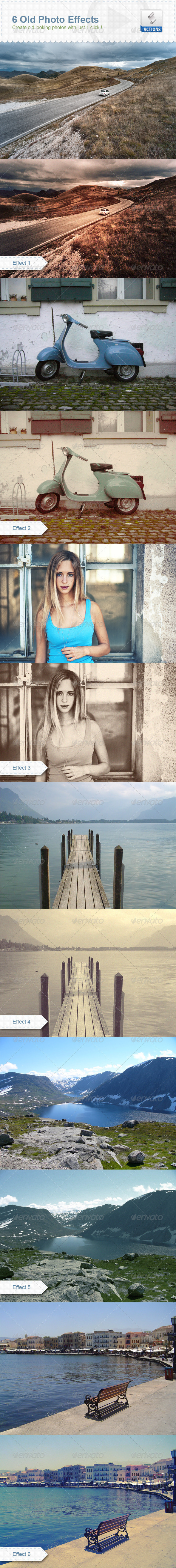 6 Old Photo Effects - Photo Effects Actions