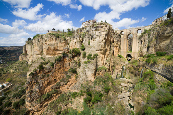 Ronda Rocks in Andalusia - Stock Photo - Images