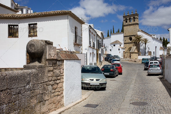 Calle Real in Ronda - Stock Photo - Images