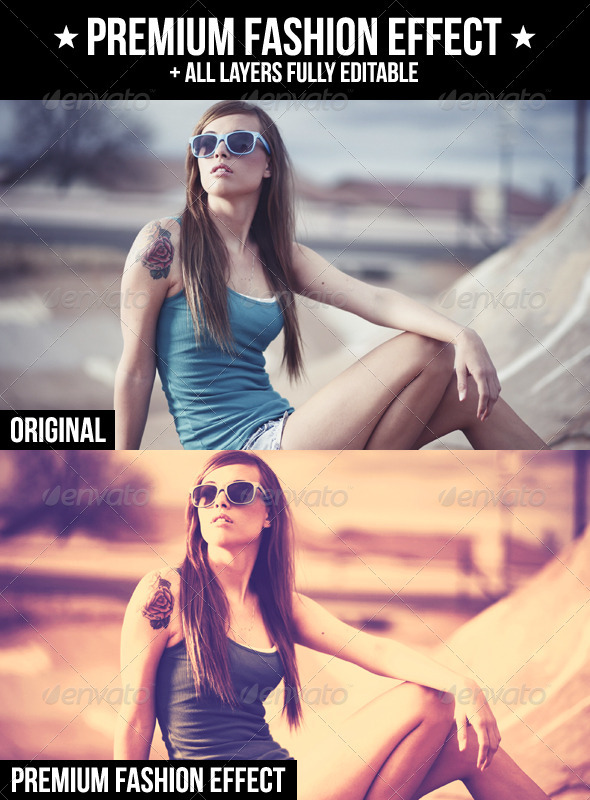 Premium Fashion Effect - Actions Photoshop