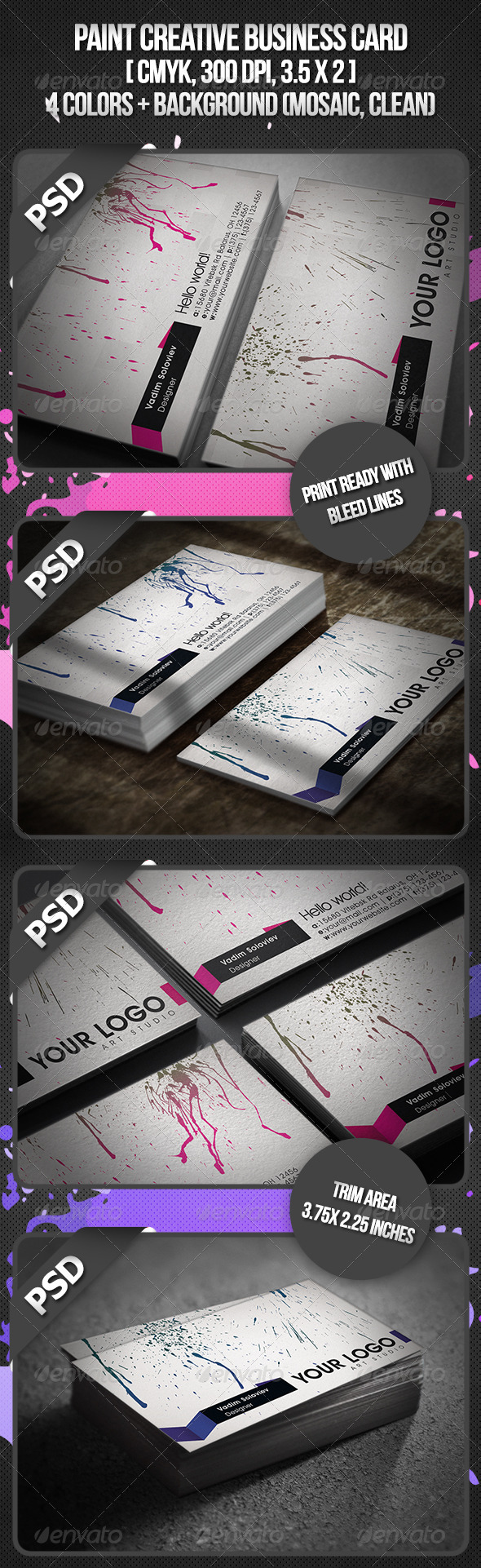 Paint Creative Business Card - Creative Business Cards