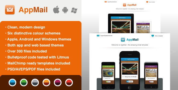 AppMail: Email Template for Apps & Mobile Websites