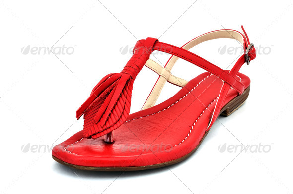 red sandals - Stock Photo - Images