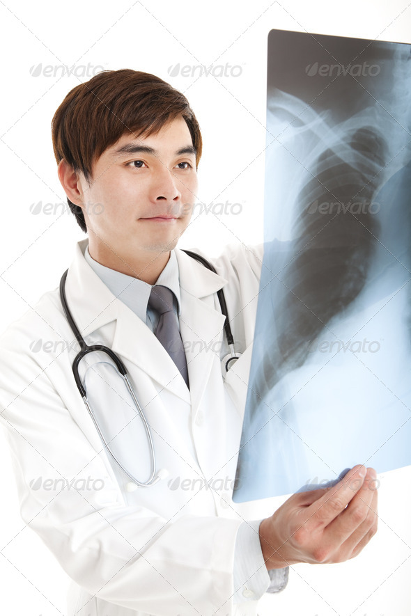 young doctor with xray  - Stock Photo - Images