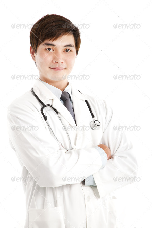 Smiling asian medical doctor - Stock Photo - Images