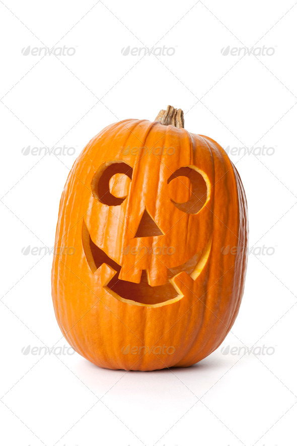 Smiling Halloween pumpkin - Stock Photo - Images