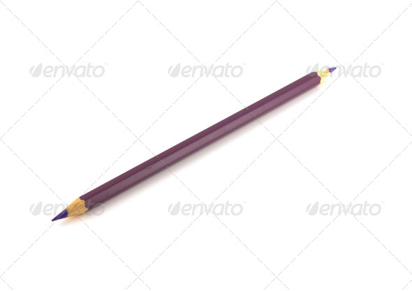 Violet pencil - Stock Photo - Images