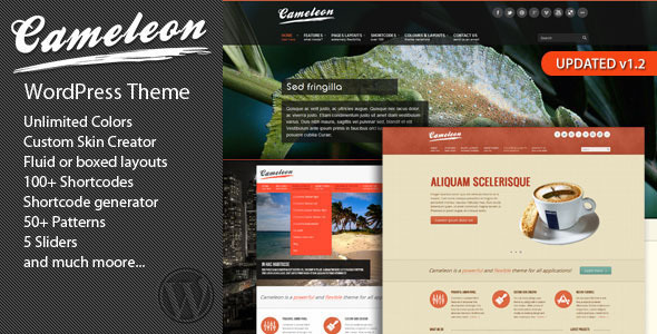 Cameleon Multipurpose WordPress Theme - Corporate WordPress