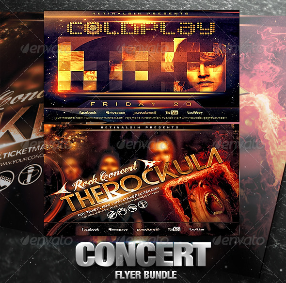 Concert Flyer Bundle - Concerts Events