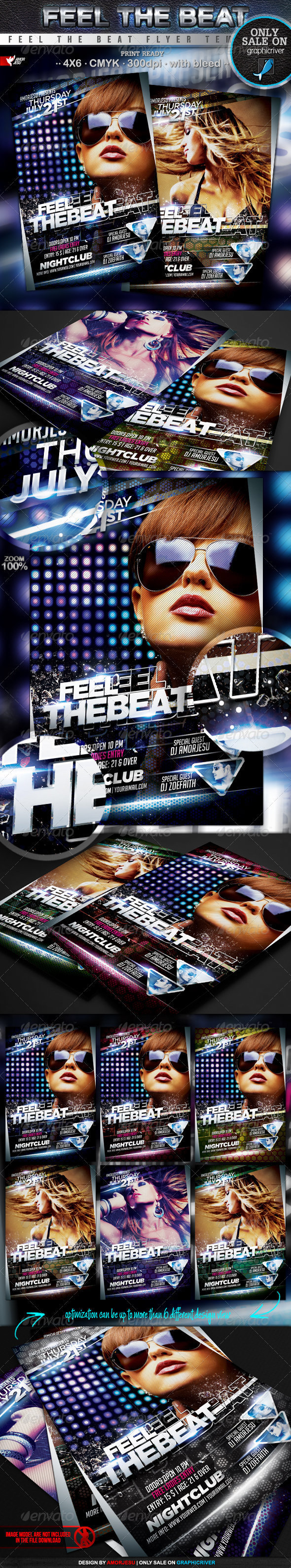 Feel The Beat Flyer Template - Events Flyers