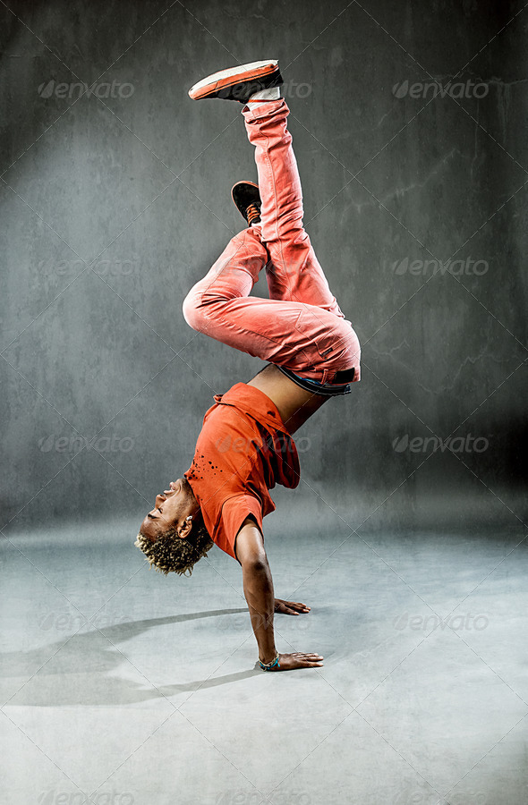 Dancer - Power Freeze - Stock Photo - Images