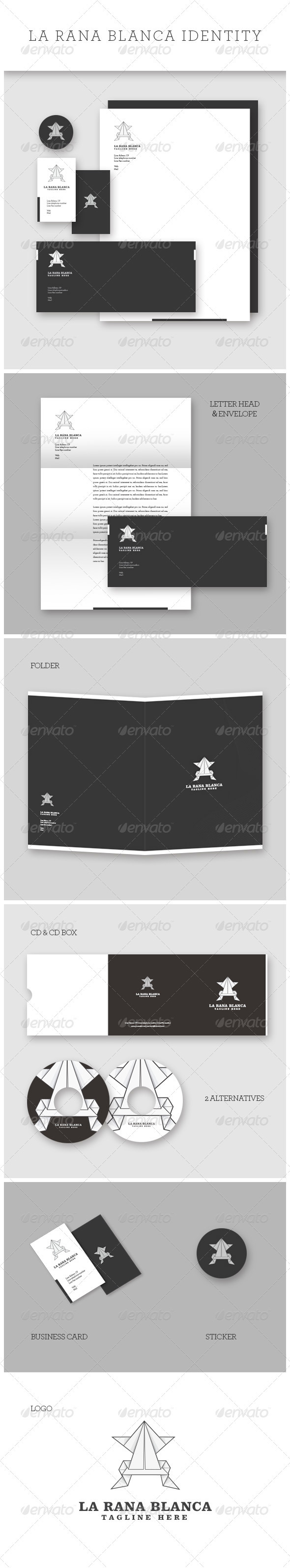 Multipurpose White Frog Identity - Stationery Print Templates