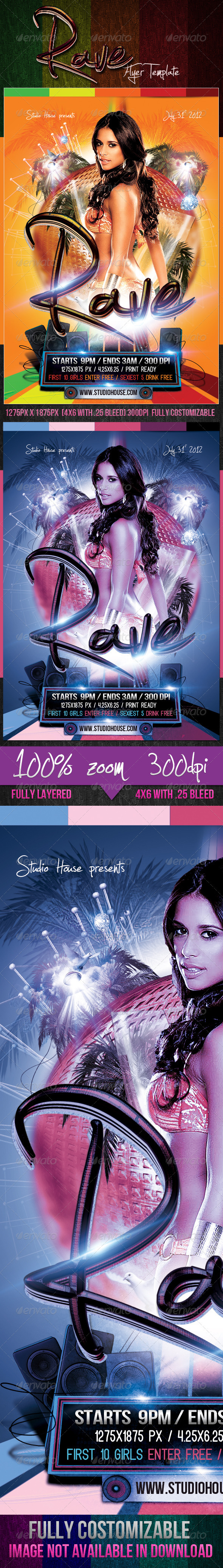GraphicRiver Rave Party Flyer 2568389